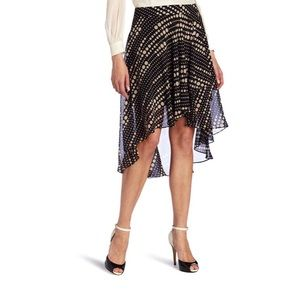 Kenneth Cole New York Polk Dot High Lo Skirt NWT